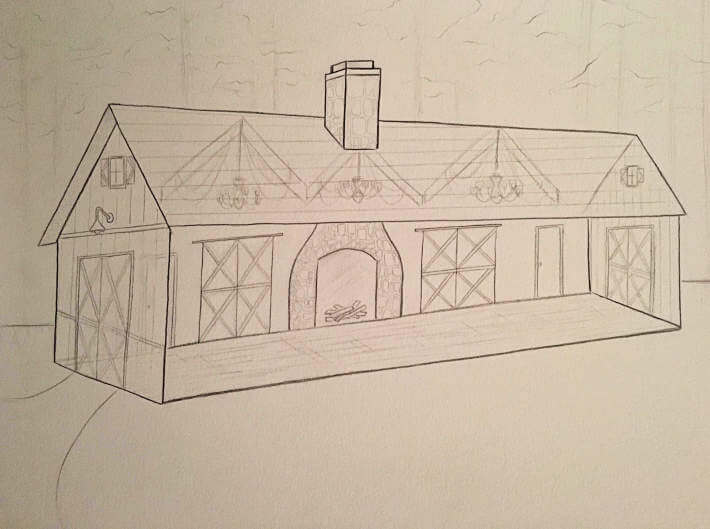 Updated Sketch Of The Barn Tallahassee Wedding Venue Thomasville